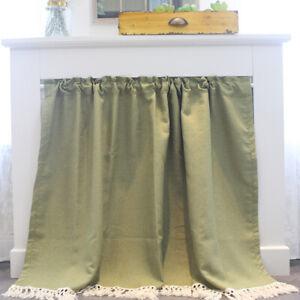 Green Half-curtain Short Window Curtains Panel Drapes Kitchen Cabinet Door Decor