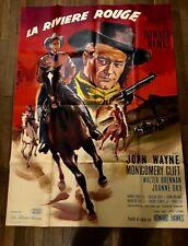 Affiche Cinéma ORIGINALE La rivière rouge 120 X 160 cm J Wayne 1949