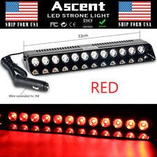 12 LED Emergency Warning Strobe Light Flashing Hazard Dash Deck Car RED Lighting