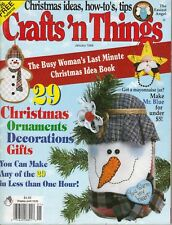 CRAFTS 'N THINGS Magazine January 1999 Christmas Ornaments Decorations Gifts