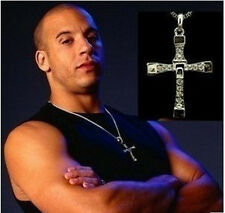 New Dominic Toretto's CROSS PENDANT Chain Necklace THE FAST and The FURIOUS JP8