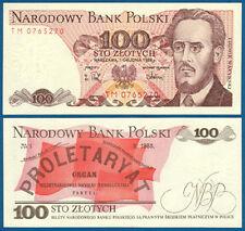 POLEN / POLAND 100 Zlotych 1988 UNC  P.143 e