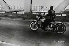 CROSSING THE OHIO ART PRINT BY DANNY LYON motorcycle driving on highway poster