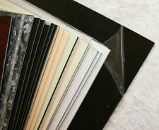 black schwarz Pickguard Rohling Platte dreilagig sw / ws / sw ca 2,4 mm stark
