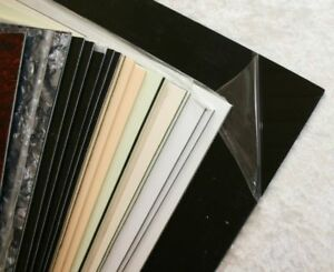 black schwarz Pickguard Rohling Platte vierlagig 4 ply ca 295 x 225 x 2,6 mm