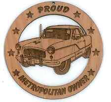 Nash Metropolitan Coupe Wood Ornament Engraved