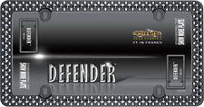 Chrome/Black Defender Studs Spikes License Plate Tag Frame for USA Car-Truck-SUV