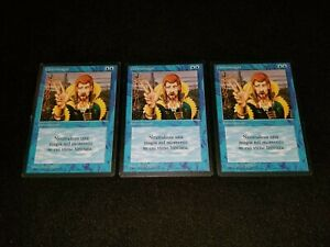 MTG 1x Revised blue uncommon LP Italian FBB Counterspell - ships w/ tracking
