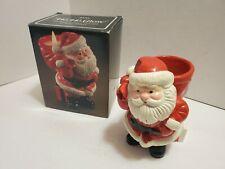 Vintage Avon Ho Ho Glow Santa Claus Figurine Candle Holder 1982 Bayberry X-Mas