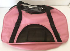 Bergan Dog Cat Pet Comfort Travel Carrier Tote Rose Wine Pink/ Black Large