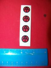 1:6th Scale GI Joe Repro AT Sticker for Uniform Sheet of 4 - Transparent Die Cut