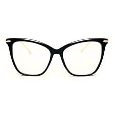 Sexy FEARLESS Women Eye glasses CAT EYE Clear Lens Shadz Metal ARMS  Oversized