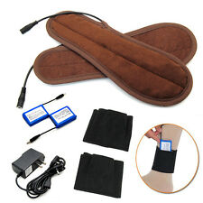 Rechargeable Battery Powered Electric Heated Winter Insole Shoes Pad Foot Warmer