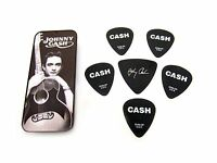 Dunlop Johnny Cash Collectible Guitar Picks in Tin 6 picks Silver Memphis Medium