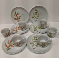 Yorktown The Toscany Collection 6 Luncheon Plates and Cups Fine China Japan