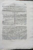 1794 NUOVO GIORNALE D'ITALIA: RAPE PER ANIMALI; COLTURA DEL GRANO TRA I SASSI...