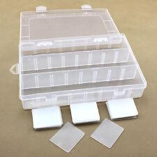 24 Schlitze Verstellbar Aufbewahrungsdosen Perlenbox Sortierbox Schmuckschachtel