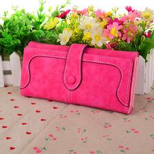 PBZ Womens Fashion Clutch Leather Long Handbag Lady's Bowknot Wallet Coin Purse