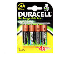 8x Duracell AA rechargeables piles 2450 mAh 2450 mAh 1.2 V NiMH Neuf Emballage Scellé