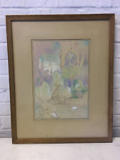 Vintage Peter Alexander Ilyin Signed Pastel Drawing of Nude Figures & Swans