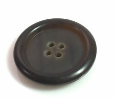Org Burberry Replacement Dark Brown Front Button for Tweed Coat Jacket 1.08""