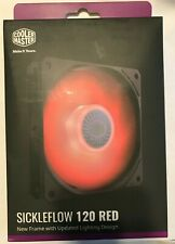 Cooler Master Sickeflow 120 Red LED 120mm Fan MFXB2DN18NPRR1 Updated Design