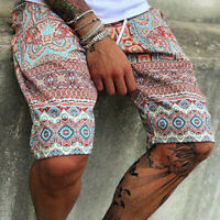 Mens Summer Floral Print Trend Shorts Boho Casual Travel Home Lace Up Short Pant