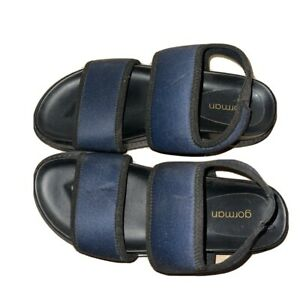 Gorman House Party Sandals, Size 38, Navy In Excellent Condition