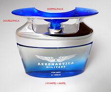 """""""AERONAUTICA MILITARE """"Doppio Pack pour homme/for men - 2x100ml Eau de Parfum"""