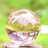 50mm Asian Rare Natural Quartz Pink Magic Crystal Healing Ball Sphere + Stand