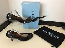 Lanvin Ballet Ladies Kitten Heels, Uk 4.5 Eu37.5 Black Patent Leather RRP £315
