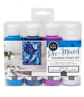 COLOR POUR - PRE MIXED STARTER KIT (4pc) - Galaxy Surge Space Canvas Painting