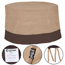 """48"""" Large Waterproof Outdoor Patio Round Table Cover Furniture Protection"""