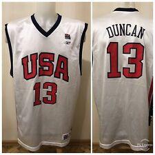 USA team #13 Tim Duncan Size XL Reebok Basketball America jersey shirt maillot