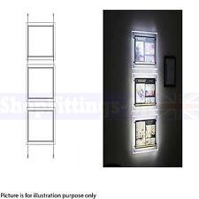 New 3x A4 LED Portrait Double Side Light Pocket Light Panel Estate Agent Display