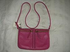 New Fossil ZB5430690 Erin Small Top Zip Crossbody Handbag - Fuchsia