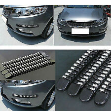 Black Front Rear Bullet Bumper Protector Corner Guard Scratch Sticker Universal