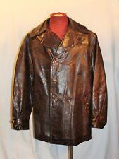 Designer David Fahner of Sixth June Paris DAF Waxed Leather 3/4 Car Coat $700