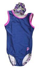 Plum Practicewear Gymnastics Leotard CM Child Medium Black Green Purple Blue