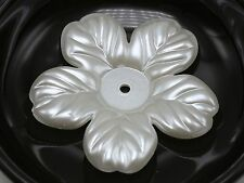 10 Ivory Acrylic Large Pearl Flower Beads Cap 54mm Center Hole Sewing Craft