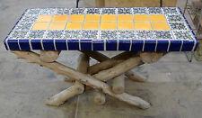 Malibu Tile Bench Vintage California
