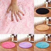 Large & Small Anti-Skid Shaggy Area Rug Room Home Bedroom Carpet Round Floor Mat