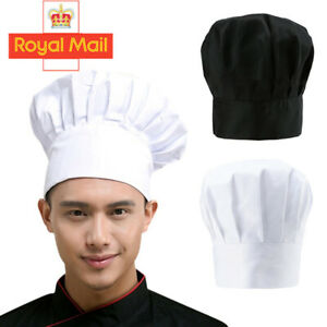 Unisex Tall Pleated Chefs Catering Hat Cook Food Prep Kitchen Baker Butchers Cap