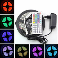 5M 3528 RGB 300 LED SMD Flexible Light Strip Lamp +44 key IR+12V Power Supply
