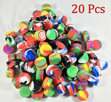 20 NonStick 5ml Silicone Jar Containers Mixed Colors New Ball 5 ml wholesale