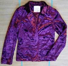 NEW Sound & Matter Women's Blazer Jacket S small burgundy velour Crushed Velvet
