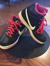 Nike Air Prestige III High 407363-016 Athletic Basketball Shoes Black Pink Sz 7.