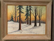 Signed Original By Gus Emerson Acrylic On Board Circa 1950's 21x25  Make Offer