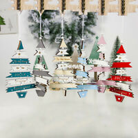 Christmas Wooden Hanging Pendants Xmas Tree Ornament Home Table Decor Gift ME