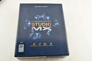 2002 Macromedia Studio MX Software Educational Version WIN & MAC